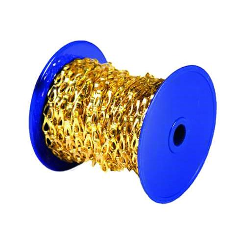Messing ketting 12x4mm per meter