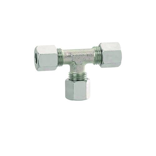 Gas t-stuk knelkoppeling 12mm