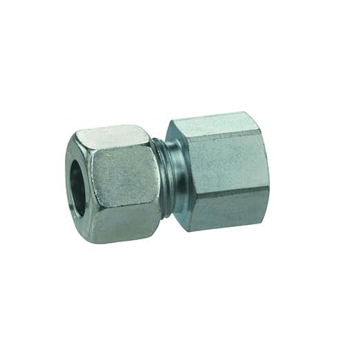 Gas rechte koppeling 8mm x binnendraad