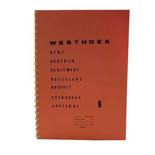 """Pierre Verberght vaarkaarten """" Westhoek """""""
