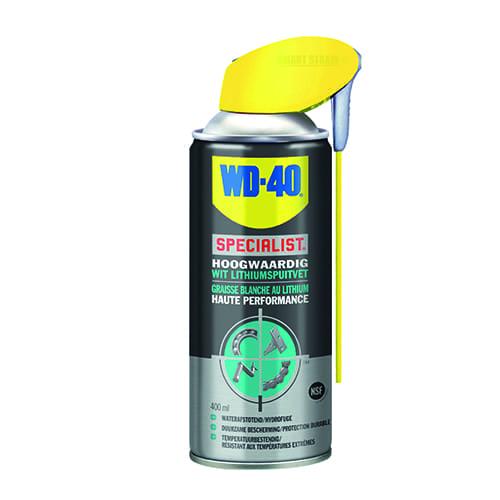 WD-40 wit lithiumspuitvet 400ml