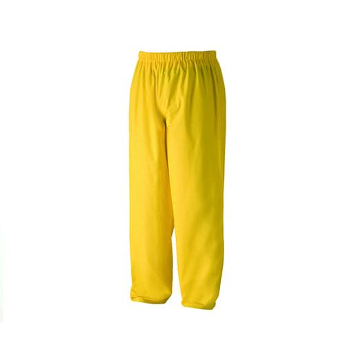 Regenbroek pvc geel m
