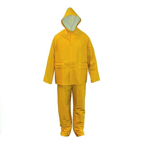 Regenpak pvc geel (jas en broek)