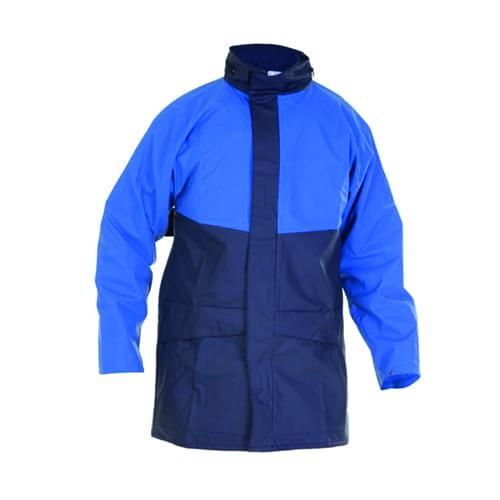Regenjack stretch donkerblauw/lichtblauw