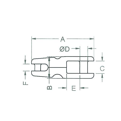 Ankerkettingverbinders RVS