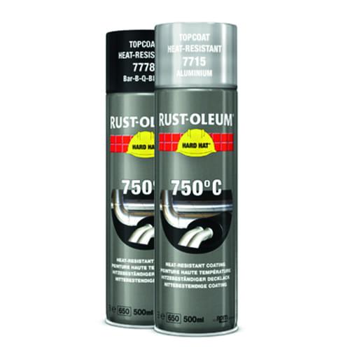 Rust-oleum Hittebestendig 750°C verfspuitbus 500ml HARD HAT