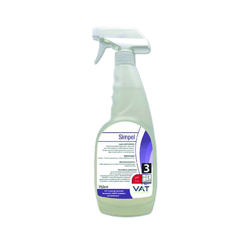 Vat simpel rvs reiniger 750ml spray