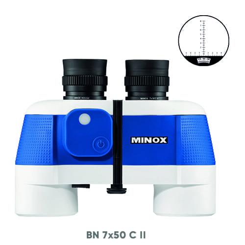 Verrekijker minox II 7 x 50c blauw/wit
