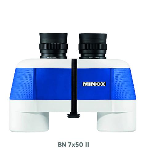 Verrekijker minox II 7 x 50 blauw/wit