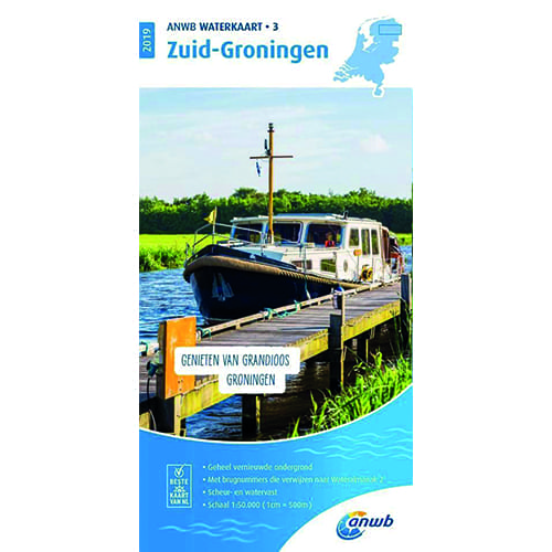 ANWB Waterkaart 3 – Zuid Groningen
