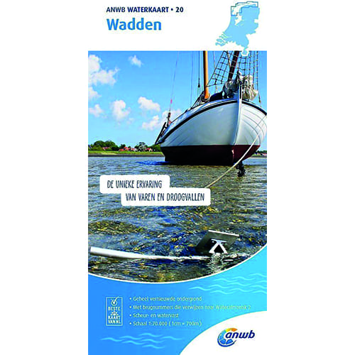 ANWB Waterkaart 20 – Wadden
