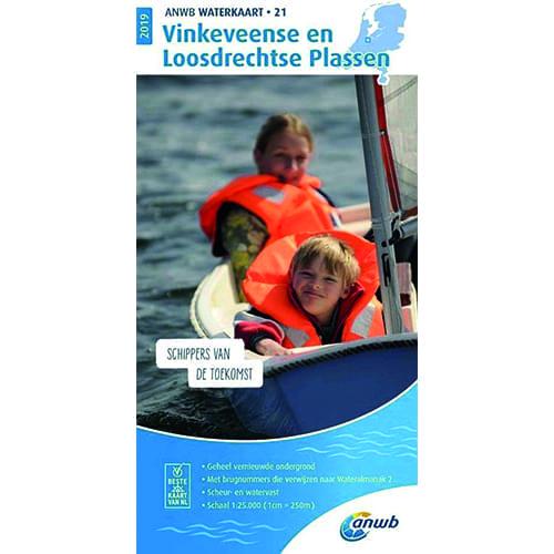 ANWB Waterkaart 21 – Vinkeveense en Loosdrechtse Plassen