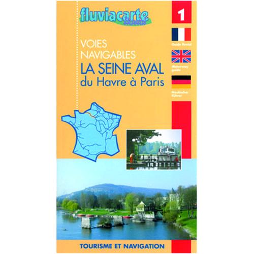 Kaart fluvia carte 1 seine parijs-havens
