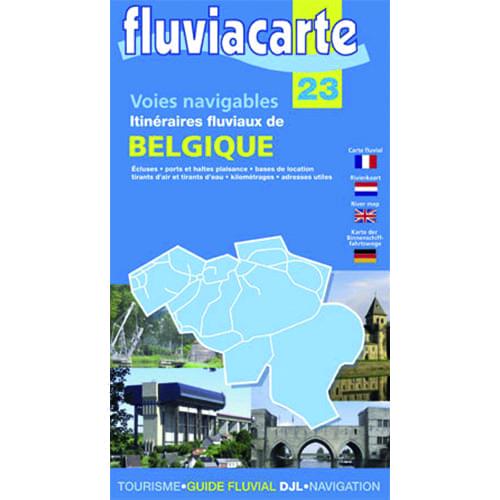 Kaart fluvia carte 23 la belgië (belgium)