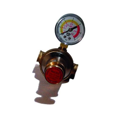 Gas drukregelaar 0-3 bar instelbaar + manometer