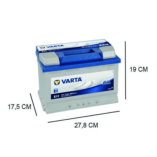 Accu Varta 74Ah