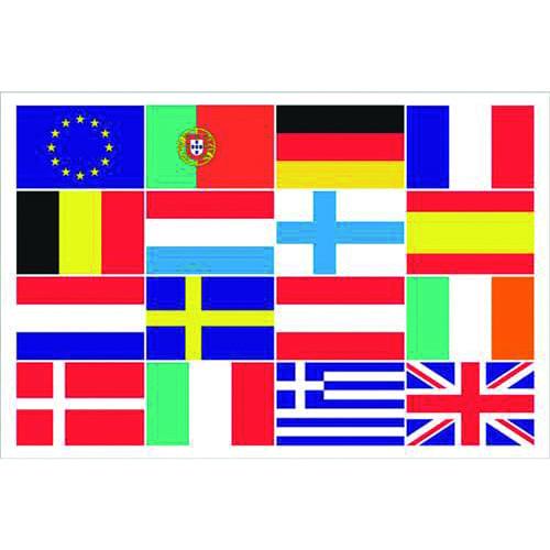 Vlag EU + 15 landen 100 x 150cm