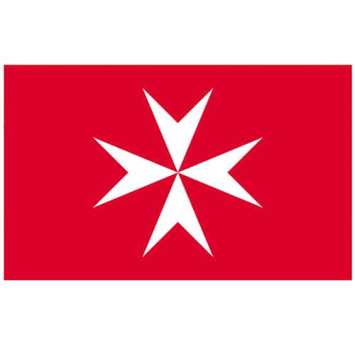 Vlag Malta 100 x 150cm koopvaardij