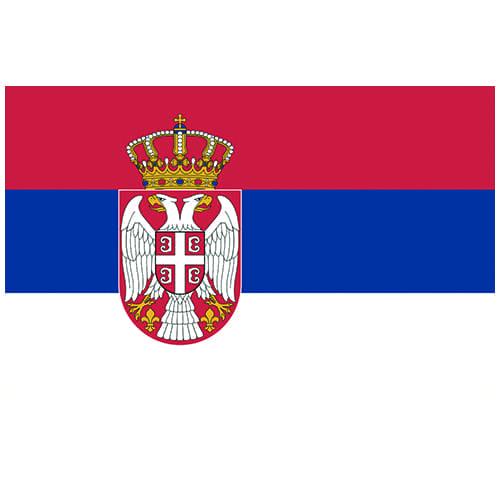 Vlag Servië 100 x 150cm